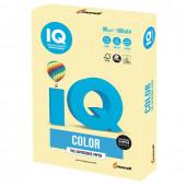 Бумага цветная для принтера IQ Color А4, 80 г/м2, 500 листов, желтая, YE23