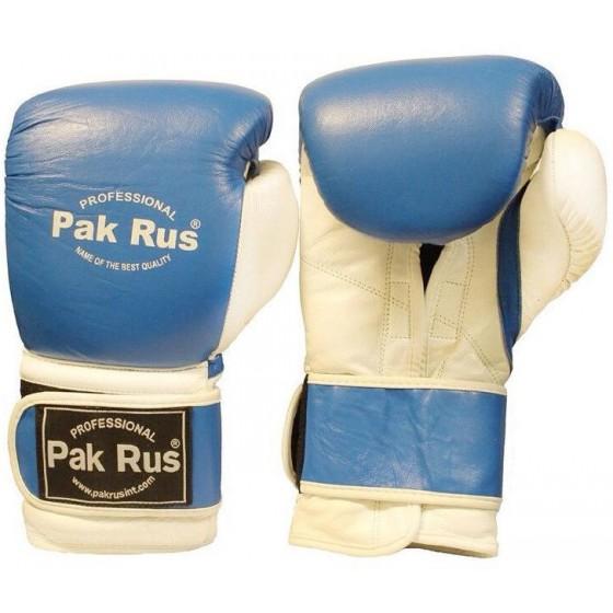 Перчатки боксерские Pak Rus ,кожа, 10 OZ синие (PR-12492)