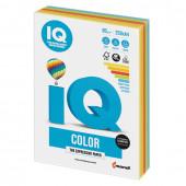 Бумага цветная для принтера IQ Color А4, 80 г/м2, 250 листов, 5 цветов, RB02