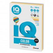 Бумага цветная для принтера IQ Color А4, 80 г/м2, 250 листов, 5 цветов, RB03