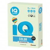 Бумага цветная для принтера IQ Color А4, 80 г/м2, 500 листов, светло-зеленая, GN27