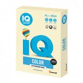 Бумага цветная для принтера IQ Color А4, 80 г/м2, 500 листов, ванильная, BE66
