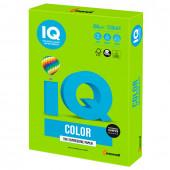 Бумага цветная для принтера IQ Color А4, 160 г/м2, 250 листов, зеленая, MA42