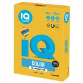 Бумага цветная для принтера IQ Color А4, 160 г/м2, 250 листов, солнечно-желтая, SY40