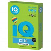 Бумага цветная для принтера IQ Color А4, 120 г/м2, 250 листов, ярко-зеленая, MA42