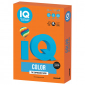 Бумага цветная для принтера IQ Color А4, 120 г/м2, 250 листов, оранжевая, OR43