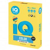 Бумага цветная для принтера IQ Color А4, 120 г/м2, 250 листов, канареечно-желтая, CY39