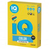 Бумага цветная для принтера IQ Color А4, 160 г/м2, 250 листов, ярко-желтая, IG50
