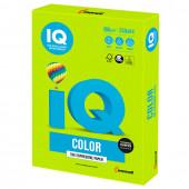 Бумага цветная для принтера IQ Color А4, 160 г/м2, 250 листов, зеленая липа, LG46