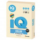 Бумага цветная для принтера IQ Color А4, 160 г/м2, 250 листов, кремовая, CR20