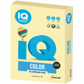 Бумага цветная для принтера IQ Color А4, 160 г/м2, 250 листов, желтая, YE23