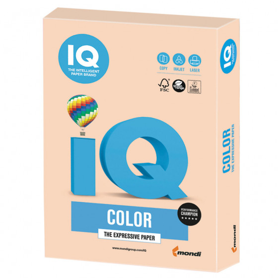 Бумага цветная для принтера IQ Color А4, 160 г/м2, 250 листов, темно-кремовая, SA24