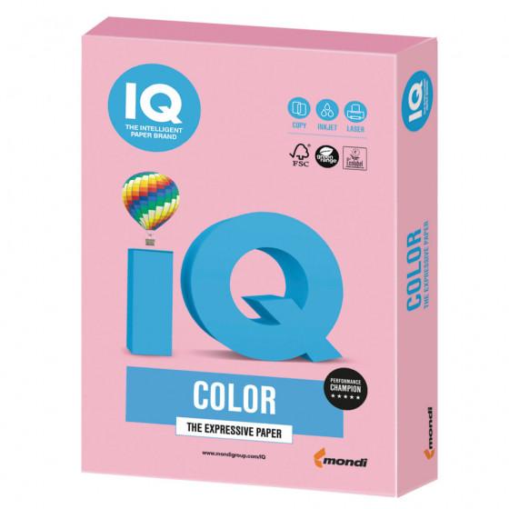 Бумага цветная для принтера IQ Color А4, 160 г/м2, 250 листов, розовый фламинго, OPI74
