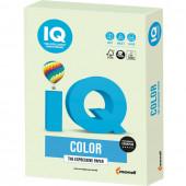 Бумага цветная для принтера IQ Color А4, 160 г/м2, 250 листов, светло-зеленая, GN27