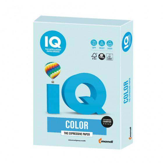 Бумага цветная для принтера IQ Color А4, 160 г/м2, 250 листов, светло-голубая, BL29