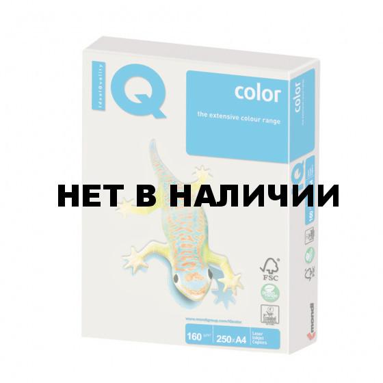 Бумага цветная для принтера IQ Color А4, 160 г/м2, 250 листов, серая, GR21