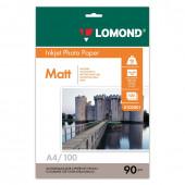 Фотобумага для струйной печати Lomond A4, 90 г/м2, 100 листов, односторонняя матовая 0102001