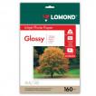 Фотобумага для струйной печати Lomond А4, 160 г/м2, 50 листов, односторонняя глянцевая 0102055
