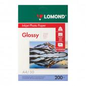 Фотобумага для струйной печати Lomond А4, 200 г/м2, 50 листов, односторонняя глянцевая 0102020