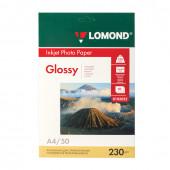 Фотобумага для струйной печати Lomond А4, 230 г/м2, 50 листов, односторонняя глянцевая 0102022