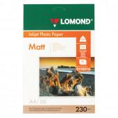 Фотобумага для струйной печати Lomond А4, 230 г/м2, 50 листов, односторонняя матовая 0102016
