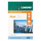 Фотобумага для струйной печати Lomond А4, 180 г/м2, 50 листов, односторонняя матовая 0102014