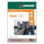 Фотобумага для струйной печати Lomond А3, 90 г/м2, 100 листов, односторонняя матовая 0102011