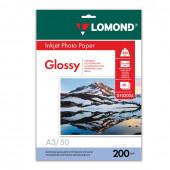 Фотобумага для струйной печати Lomond A3, 200 г/м2, 50 листов, односторонняя глянцевая 0102024