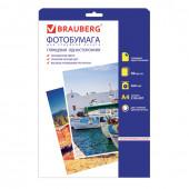 Фотобумага для струйной печати Brauberg А4, 260 г/м2, 50 листов, односторонняя глянцевая 363126