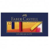 Пастель сухая художественная Faber Castell Soft Pastels 12 цветов квадратное сечение 128312