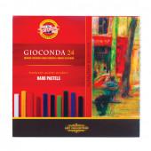 Пастель сухая художественная KOH-I-NOOR Gioconda 24 цвета квадратное сечение 8114024003KS