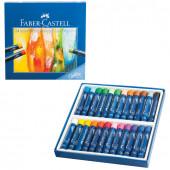 Пастель масляная художественная Faber Castell Oil Pastels 24 цвета круглое сечение 127024