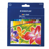 Пастель масляная художественная Staedtler Noris club Jumbo 24 цвета круглое сечение 243 NC24