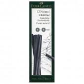 Уголь натуральный для рисования Faber Castell Pitt 5-8 мм 12 шт 129298