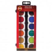 Краски акварельные художественные кроющие KOH-I-NOOR 12 цветов 017550400000