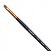 Кисть художественная Roubloff (Рублев) колонок, плоская, № 8, длинная ручка ЖК2-08,07Ж