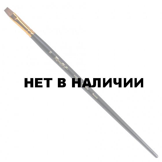 Кисть художественная Roubloff (Рублев) колонок, плоская, №10, длинная ручка ЖК2-10,07Ж