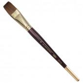 Кисть художественная KOH-I-NOOR колонок, плоская, №16, короткая ручка 9936016010BL