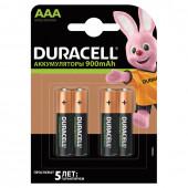 Батарейки аккумуляторные Duracell HR03 (AAA) Ni-Mh 900 mAh 4 шт 81546826 (453568)