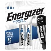 Батарейки литиевые Energizer Ultimate Lithium FR06 (AA) 2 шт 639154 (454665)