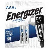 Батарейки литиевые Energizer Ultimate Lithium FR03 (AAA) 2 шт 639170 (454666)