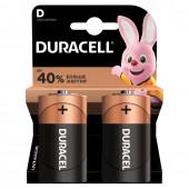 Батарейки алкалиновые Duracell Basic LR20 (D) 2 шт MN1300DLR20 (450401)