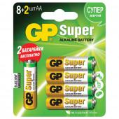 Батарейки алкалиновые GP Super LR06 (AA) 10 шт 15A8/2-CR10 (450435)