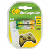 Батарейки аккумуляторные GP (AAA) Ni-Mh 850 mAh 2 шт 85AAAHC2DECRC2 (454111)