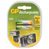 Батарейки аккумуляторные GP (AAA) Ni-Mh 1000 mAh 2 шт 100AAAHC2DECRC2 (454112)
