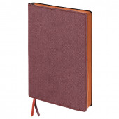 Блокнот А5 Brauberg Tweed 112 листов линия 110963