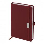 Ежедневник датированный 2021 А5 Brauberg Control с держателем для ручки 111475