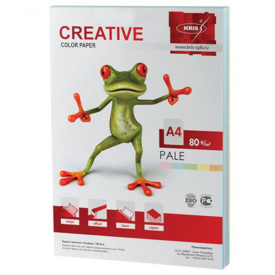 Бумага цветная Creative Color А4, 80 г/м2, 250 листов, 5 цветов, БПpr-250r