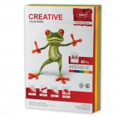 Бумага цветная Creative Color А4, 80 г/м2, 250 листов, 5 цветов, БИpr-250r