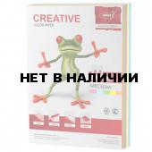 Бумага цветная Creative Color А4, 80 г/м2, 250 листов, 5 цветов, БОpr-250r